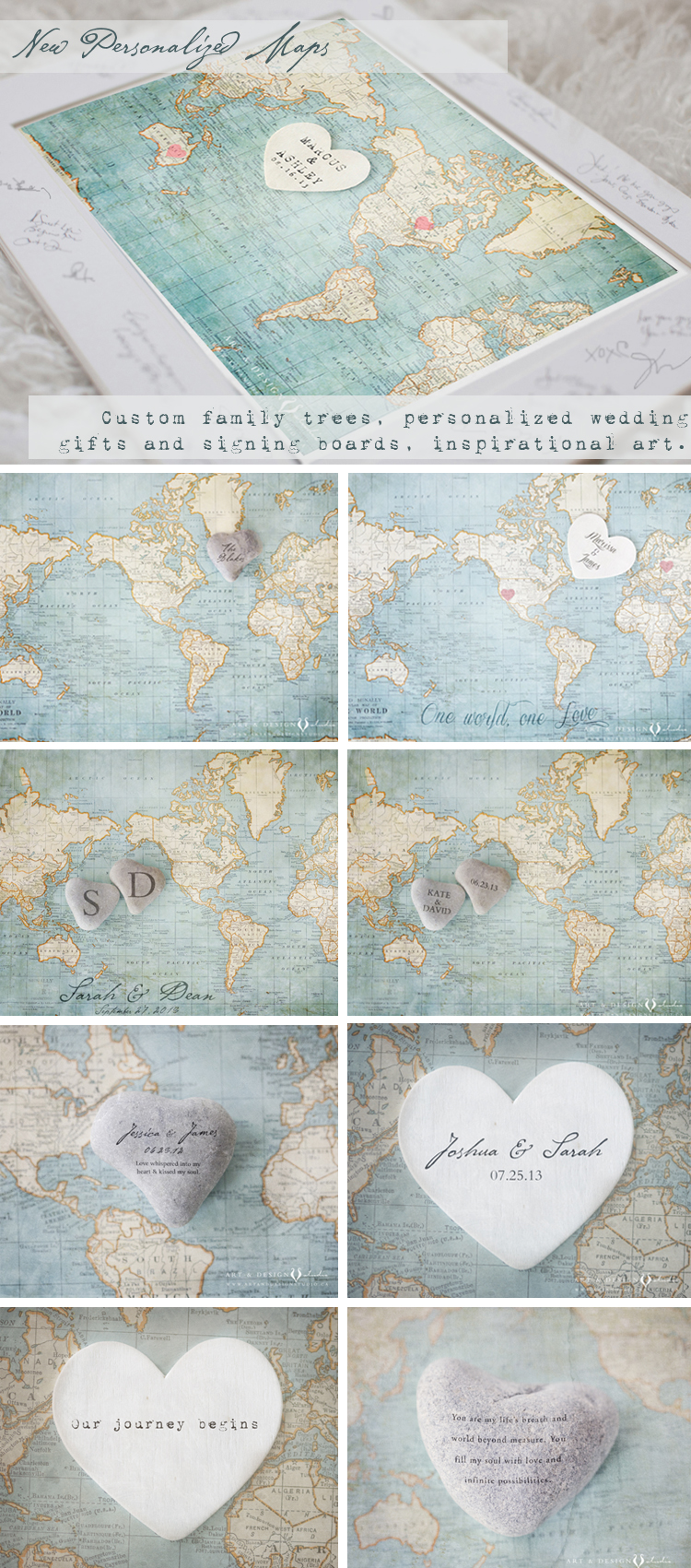 Map Art Wedding Gift : Wedding Maps, Family Name Art Personalized-Wedding-Gift Toronto ...